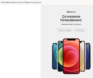 Infolettre de La Source sur la disponibilité du iPhone 12