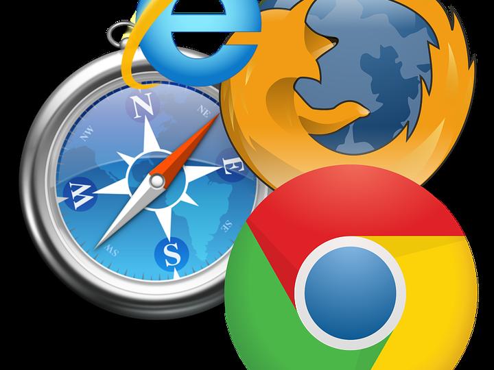Différents logos identifiant des navigateurs