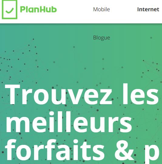 PlanHub: trouver le fournisseur Internet le moins cher
